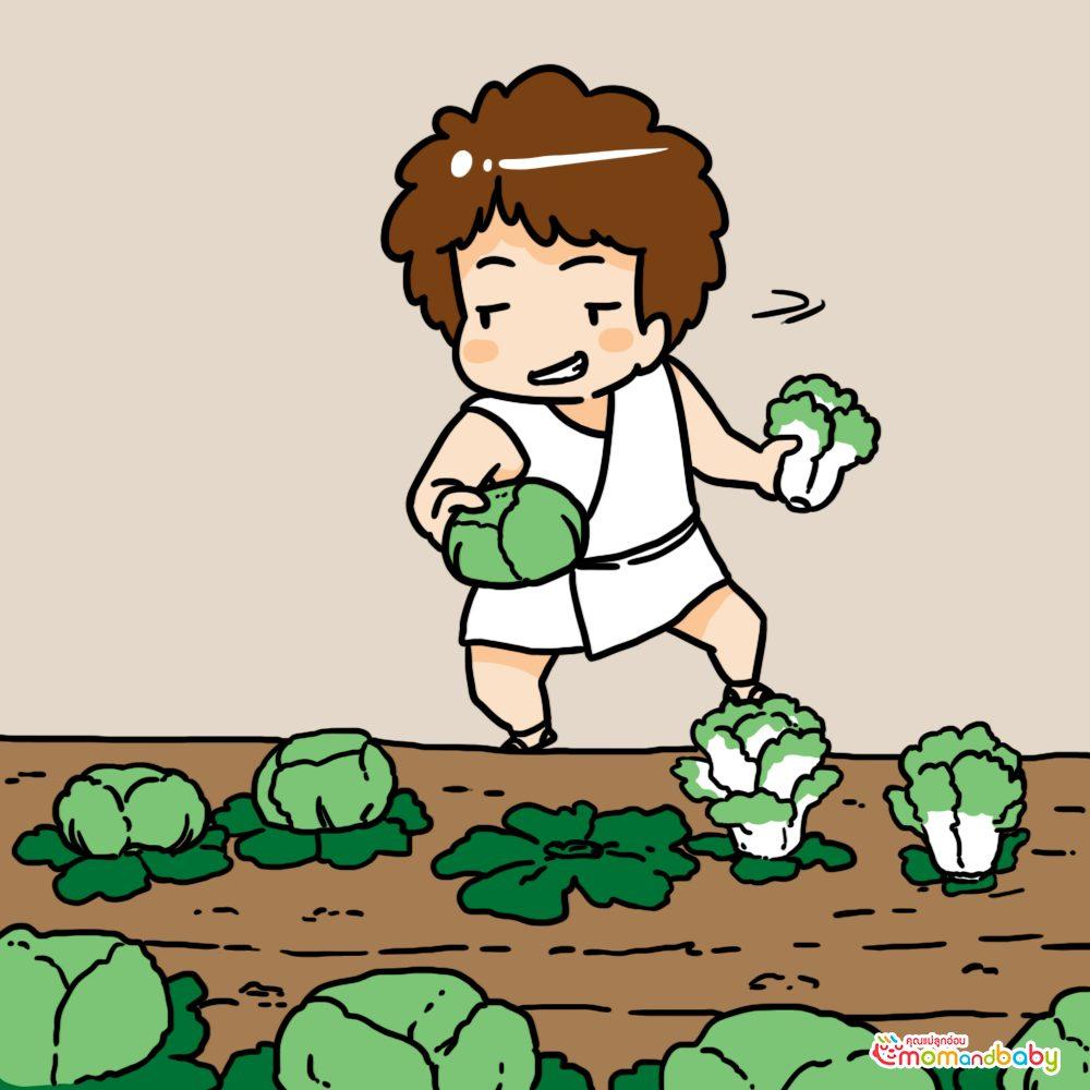 ไปขโมยพืชผลในไร่ของเพื่อนบ้าน