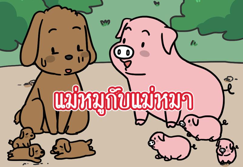 นิทานอีสป แม่หมูกับแม่หมา