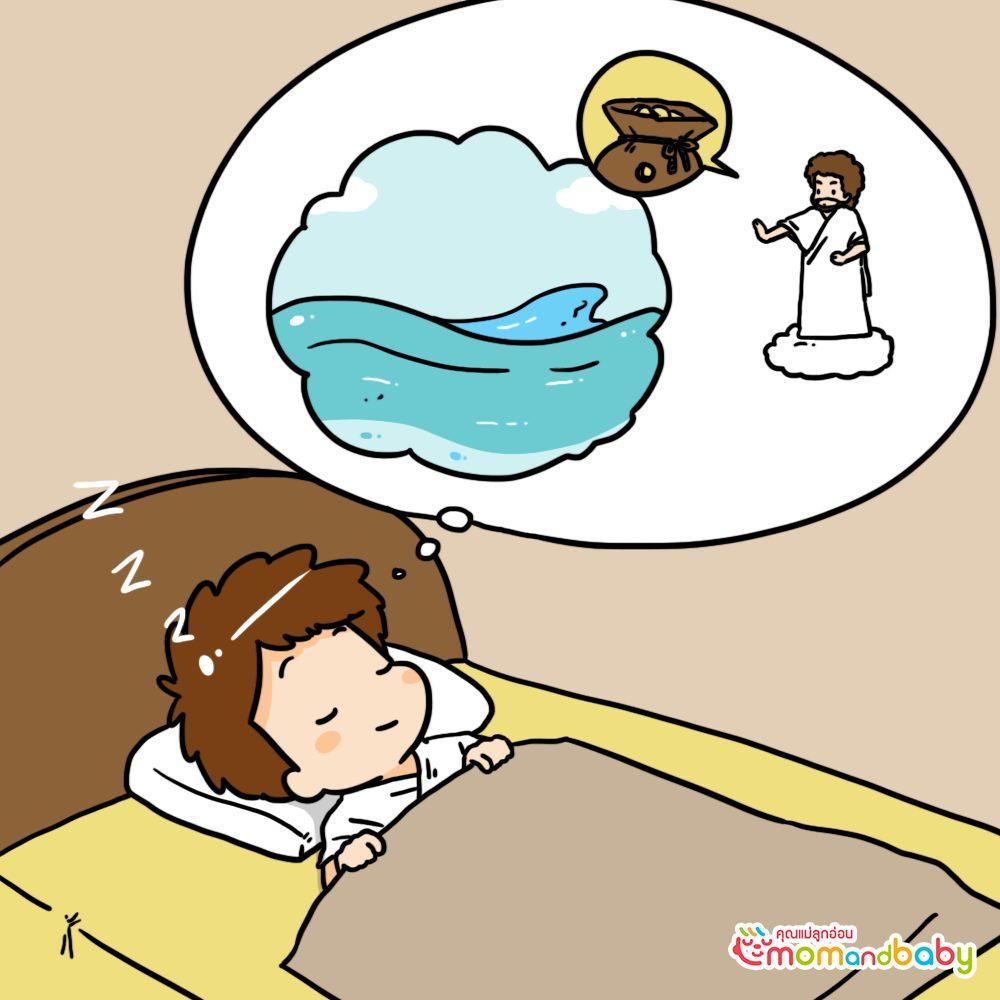 ดังนั้นพระเจ้าจึงทำให้มนุษย์มีความฝันที่พระเจ้าทรงสร้างขึ้น