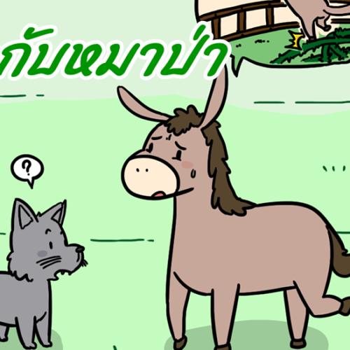 นิทานอีสป ลากับหมาป่า